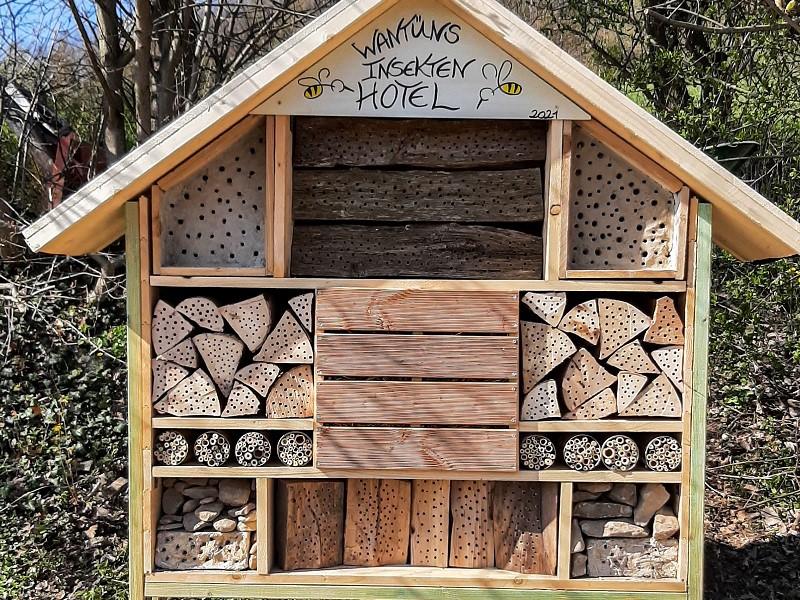 Insektenhotel in der Bienenweide